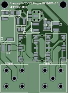 Preamp PCB