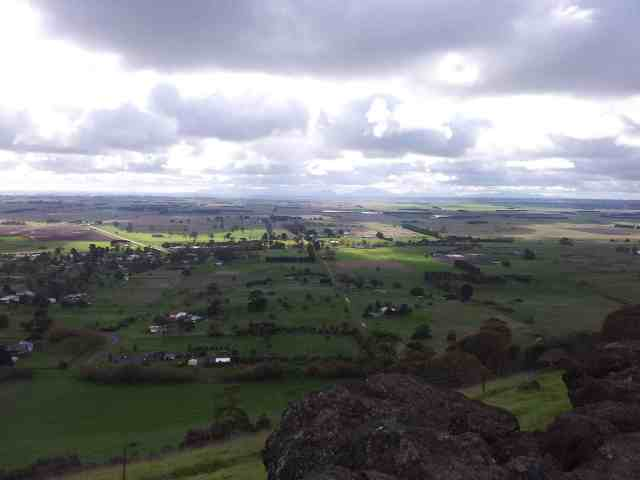 Penshurts and the southern Grampians from Mt Rouse